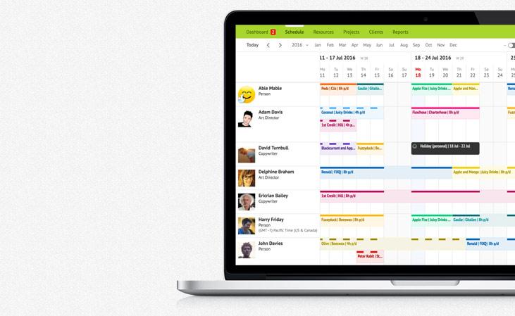 Resource scheduling app