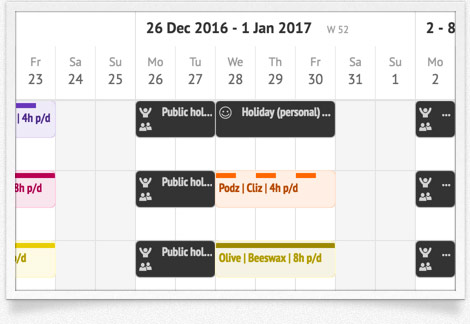 Time off planner